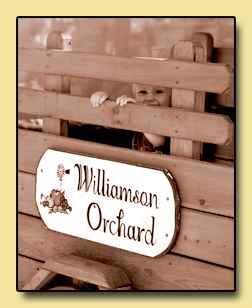 Williamson Orchards Sign